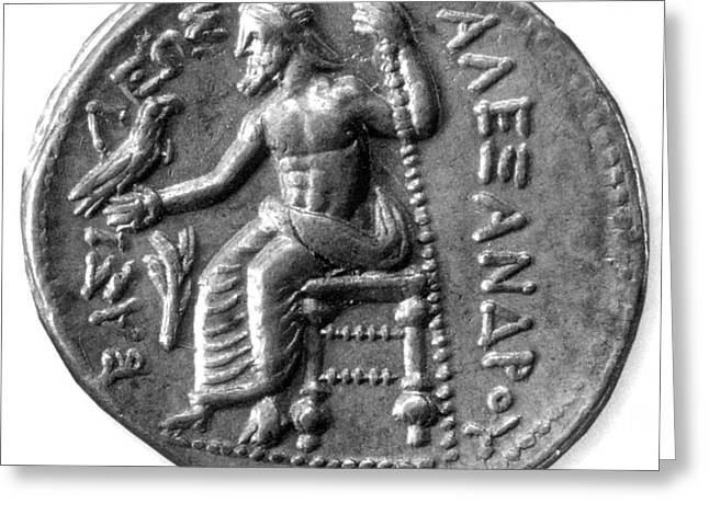 Lord Of Lords. King Of Kings Greeting Cards - Silver Tetradrachm Of Alexander Greeting Card by Photo Researchers