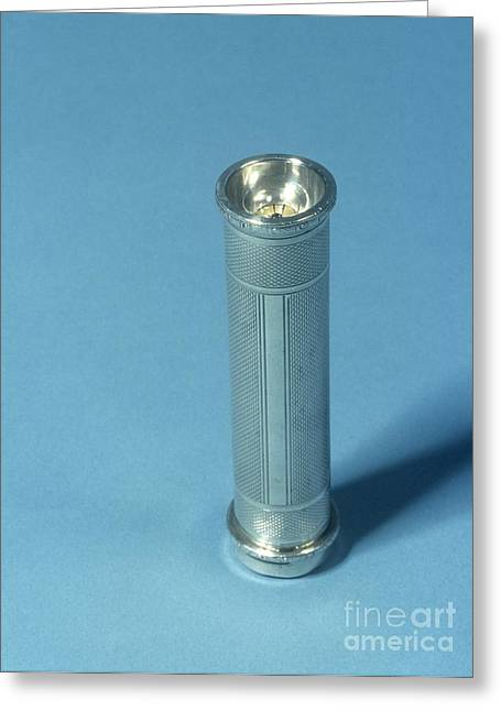 Illuminates Greeting Cards - Silver Torch, 20th Century Greeting Card by Science Photo Library