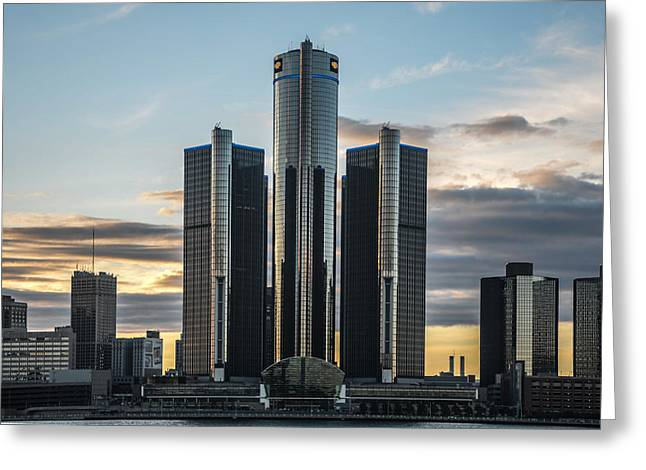Renaissance Center Greeting Cards - Silver Towers Greeting Card by Gales Of November