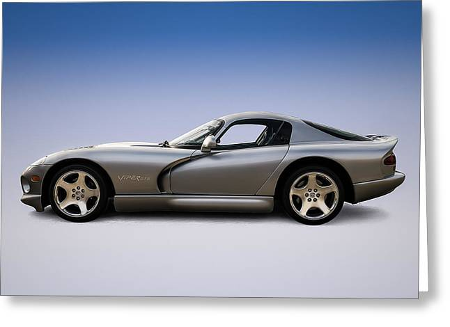 Mopar Greeting Cards - Silver Viper Greeting Card by Douglas Pittman