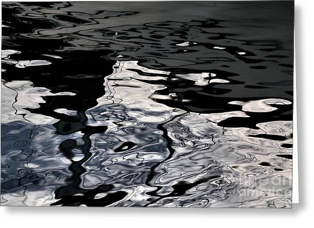Reflecting Water Greeting Cards - Silver Water - Limited Edition Greeting Card by Lauren Hunter