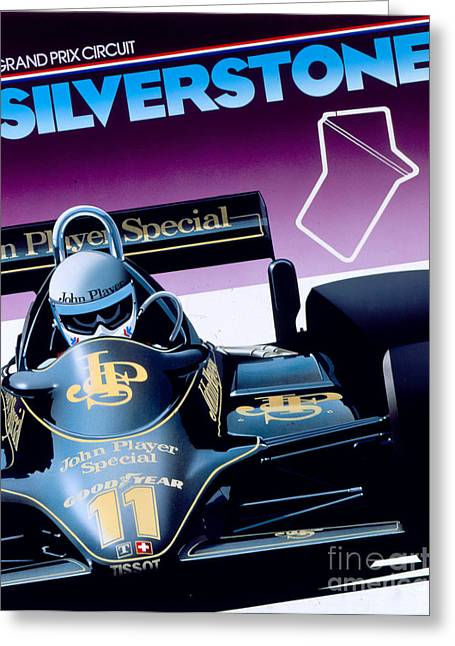 80s Greeting Cards - Silverstone Greeting Card by Gavin Macloud