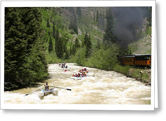Action Sports Prints Greeting Cards - Silverton Durango Steam Train Greeting Card by Jack Pumphrey