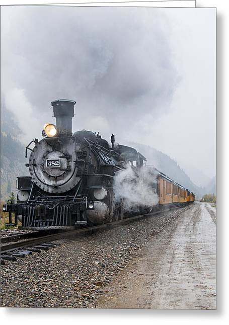 Mining Photos Greeting Cards - Silverton Narrow Gauge Railroad 2 Greeting Card by Paul Cannon