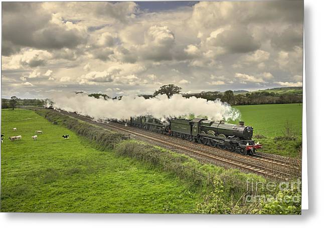 Southern Class Greeting Cards - Silverton Steam  Greeting Card by Rob Hawkins