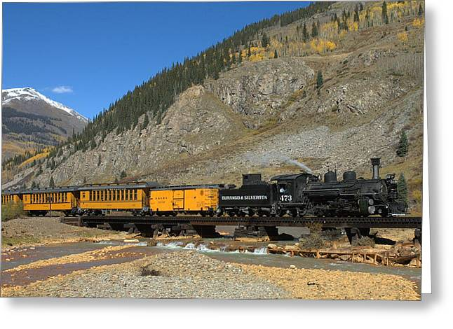 Durango Greeting Cards - Silverton Train Greeting Card by Jerry McElroy