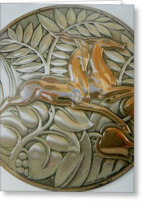 Art Decorator Discounts Greeting Cards - SILVERWORK #  2   Art Deco Greeting Card by Gunter  Hortz