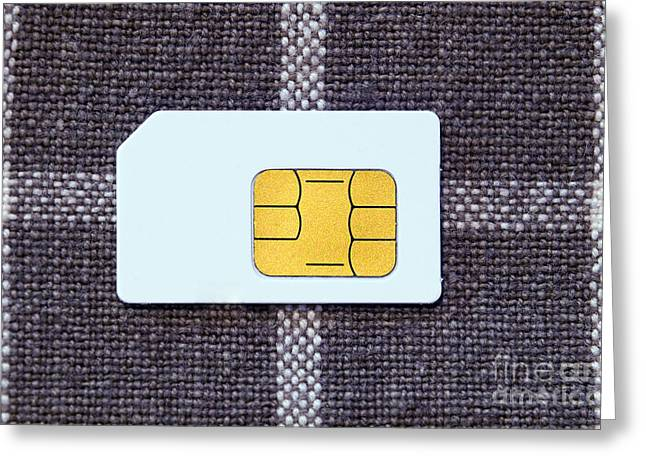 Cellphone Greeting Cards - SIM Card Greeting Card by Sinisa Botas