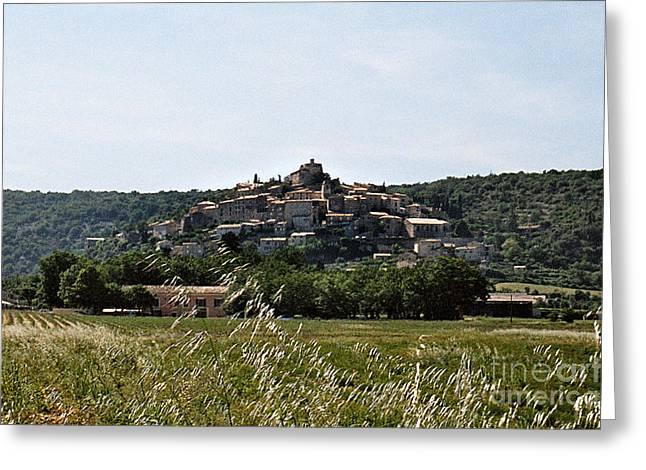 Provence Village Greeting Cards - Simiane la Rotonde Greeting Card by Kim Lessel