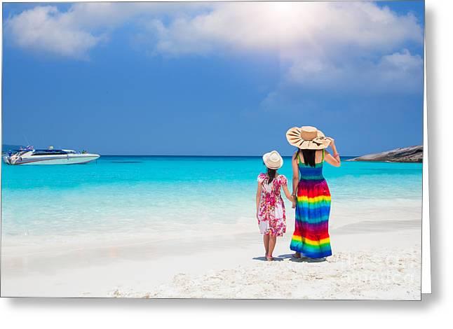 Huahin Greeting Cards - Similan Island Greeting Card by Anek Suwannaphoom