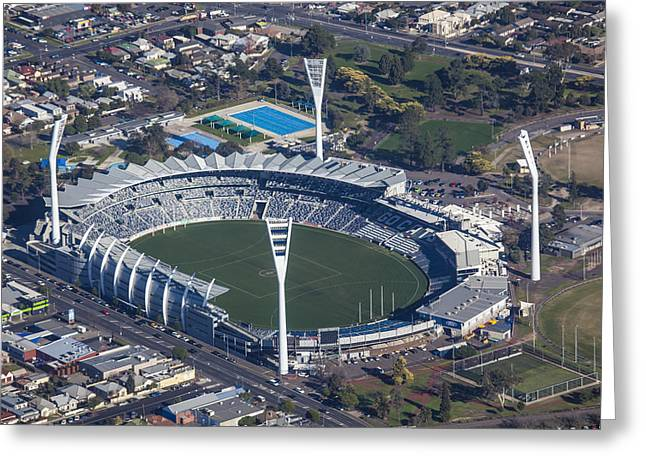 Geelong Greeting Cards - Simmonds Stadium Home Of The Geelong Greeting Card by Brett Price