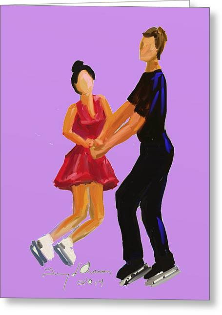 Terry Chacon Greeting Cards - Simon and Marissa Greeting Card by Terry  Chacon