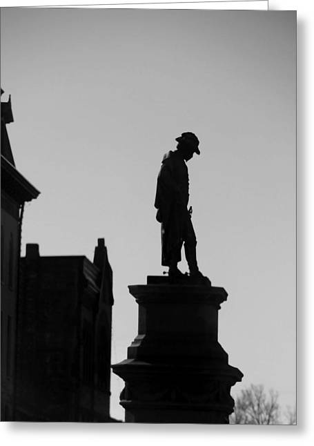 Solder Greeting Cards - Simon Kenton Statue Gravesite Greeting Card by Dan Sproul