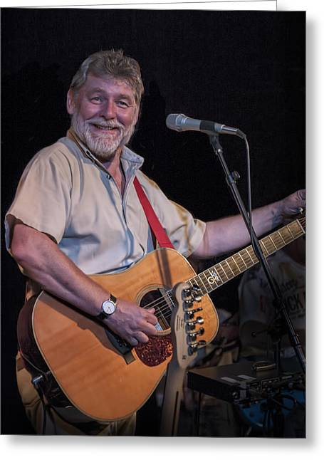 English Folk Music Greeting Cards - Simon Nicol of Britians Fairport Convention Greeting Card by Randall Nyhof