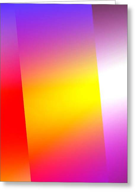 Simple Abstract Art Greeting Card by Mario Perez