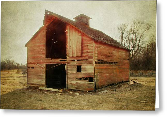 Country Cottage Digital Art Greeting Cards - Simple Barn ll Greeting Card by Julie Hamilton