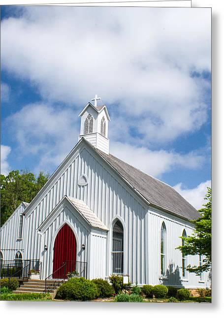 Episcopalians Greeting Cards - Simple Church 1 Greeting Card by Douglas Barnett