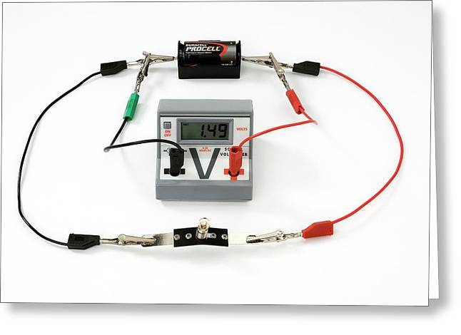 Simple Circuit To Measure Volts Greeting Card by Trevor Clifford Photography