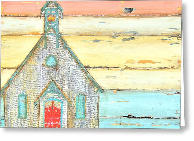 Chapel Mixed Media Greeting Cards - Simple Faith Greeting Card by Danny Phillips