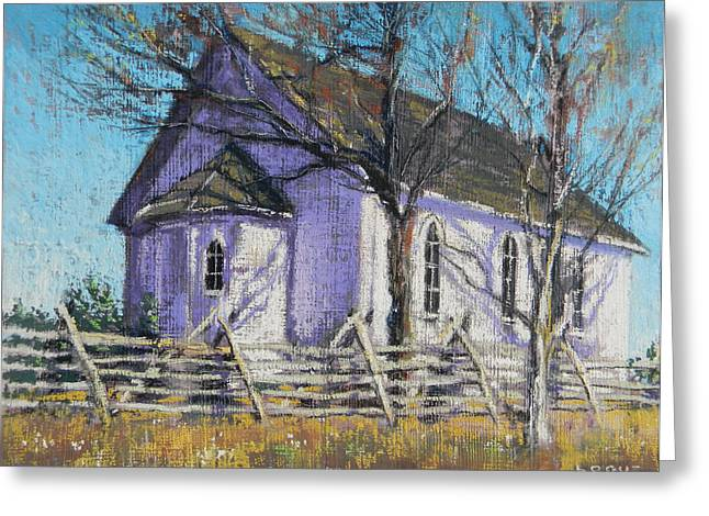 Split Rail Fence Greeting Cards - Simple Faith Greeting Card by Ken Logue