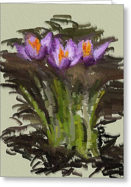 Interior Still Life Digital Art Greeting Cards - Simple Flower Bouquet  Greeting Card by Yury Malkov