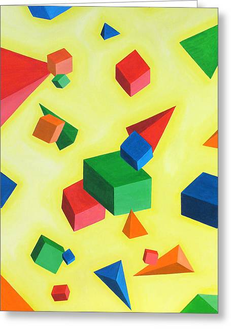 Sven Fischer Greeting Cards - Simple geometry Greeting Card by Sven Fischer
