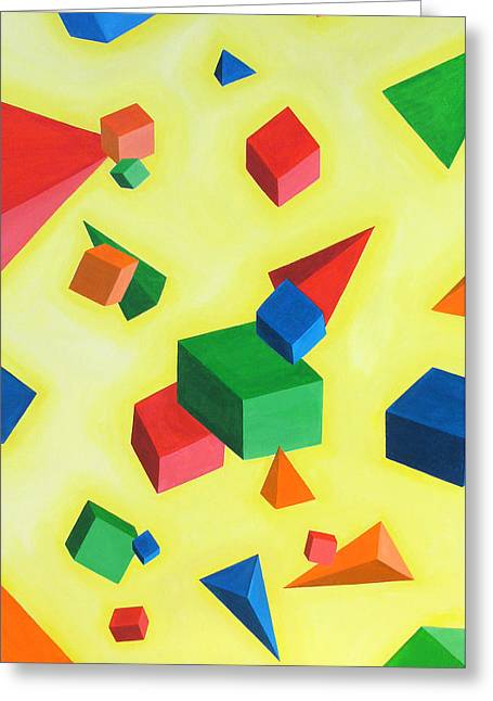 Simple Geometry Greeting Card by Sven Fischer