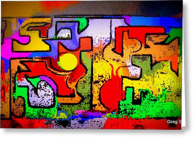 Afrocentric Art Greeting Cards - Simple Intenchines Greeting Card by Greg Stew
