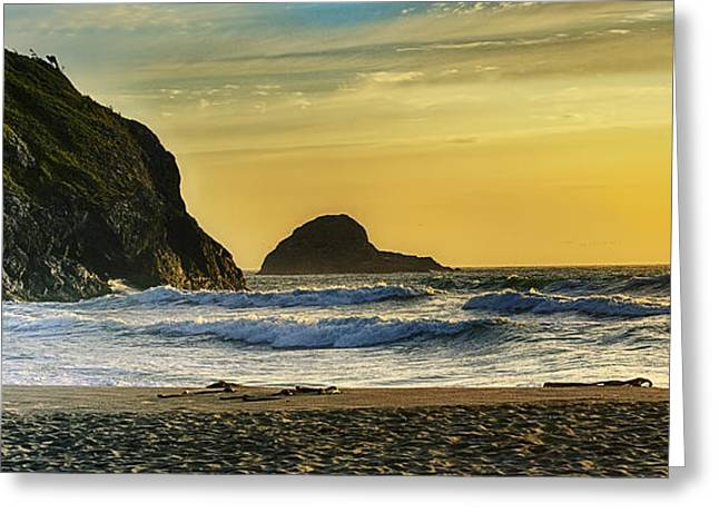Trinidad Beach Sunset Greeting Cards - Simple Greeting Card by James Heckt