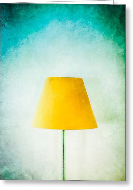 Lampshade Greeting Cards - Simple Lamp Greeting Card by YoPedro