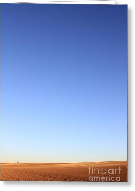Big Sky Country Greeting Cards - Simple Landscape #1 Greeting Card by Pixel Chimp