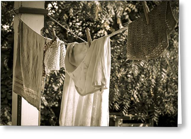 Hanging Out Greeting Cards - Simple Life 9 Greeting Card by Julie Palencia