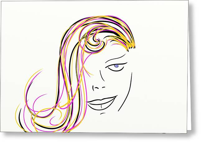 Bokeh Paintings Greeting Cards - Simple Lines Greeting Card by Sotiris Filippou