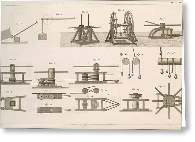 Simple Machines Greeting Card by Science, Industry And Business Library/new York Public Library