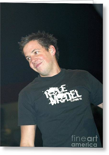 Pop Singer Greeting Cards - Simple Plan Greeting Card by Front Row  Photographs