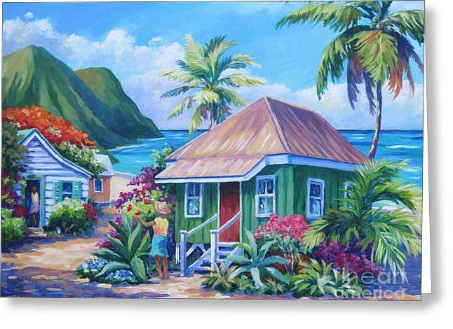 North Shore Paintings Greeting Cards - Simple Pleasures Greeting Card by John Clark