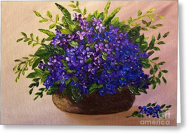 Simple Pleasures Greeting Card by Peggy Miller