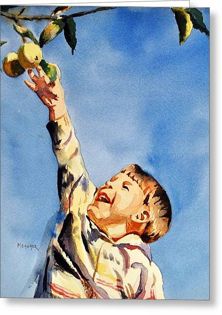 Little Boy Greeting Cards - Simple Pleasures Greeting Card by Spencer Meagher