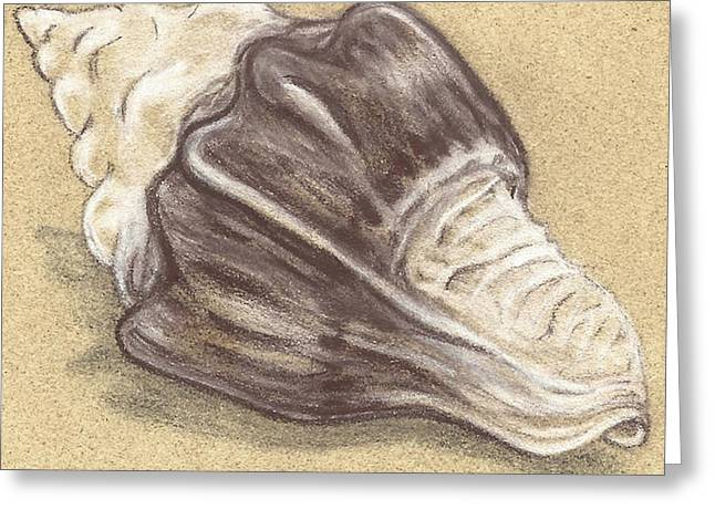Sea Shell Art Pastels Greeting Cards - Simple Shell #1 Greeting Card by Monica Margarida