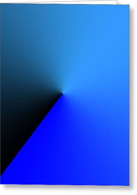 Geometry Greeting Cards - Simple Solution Design in Blue Greeting Card by Mario  Perez