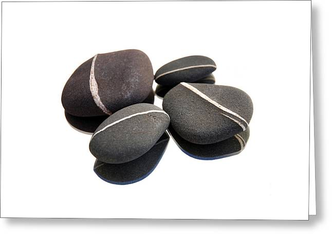 Beach Greeting Cards - Simple Stones Greeting Card by Mark Rogan