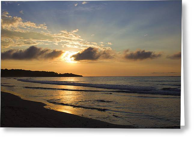 Vida Greeting Cards - Simple Sunset Greeting Card by Bailey Barry