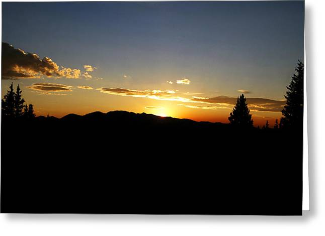 Mt. Massive Greeting Cards - Simple Sunset Greeting Card by Jeremy Rhoades