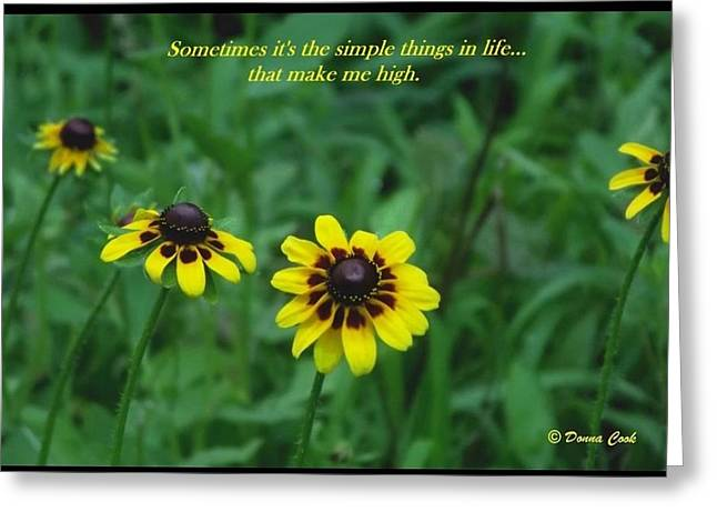 Wild Flowers Of Texas Greeting Cards - Simple Things Greeting Card by Donna Cook