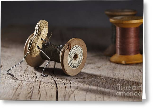 Things Photographs Greeting Cards - Simple Things - Rolling the Thread Greeting Card by Nailia Schwarz
