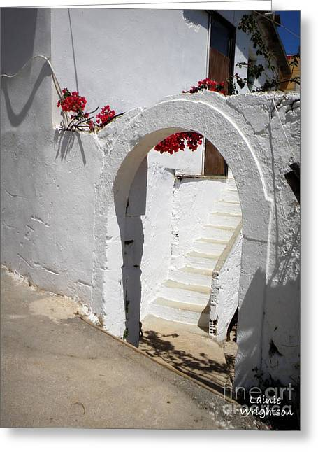 Lainie Wrightson Greeting Cards - Simple White Archway Greeting Card by Lainie Wrightson