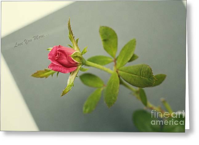 Symbol Of Wisdom Greeting Cards - Simple Words of Love Greeting Card by Ella Kaye Dickey