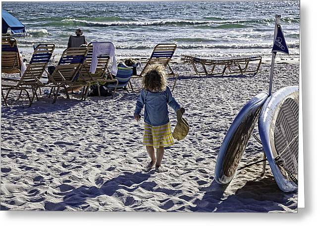 Simpler Times 2 - Miami Beach - Florida Greeting Card by Madeline Ellis