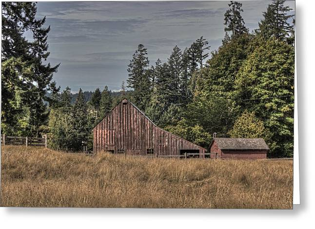Outbuildings Greeting Cards - Simpler Times Greeting Card by Randy Hall