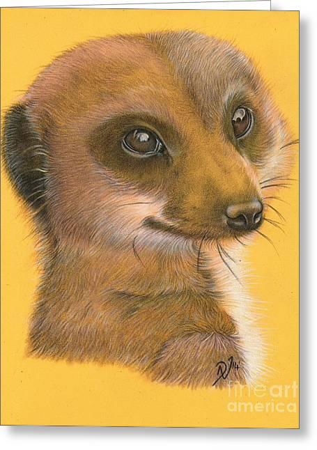 Meerkat Drawings Greeting Cards - Simples Greeting Card by Deborah Nicholas